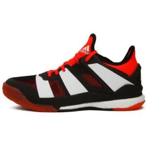 meet 42a54 aead5 Details about New Adidas Stabil X Men Badminton Running Indoor Shoes  Sneakers - Black(BY2521)
