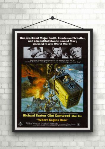 Where Eagles Dare Vintage Movie Poster Art Print Maxi A1 A2 A3 A4