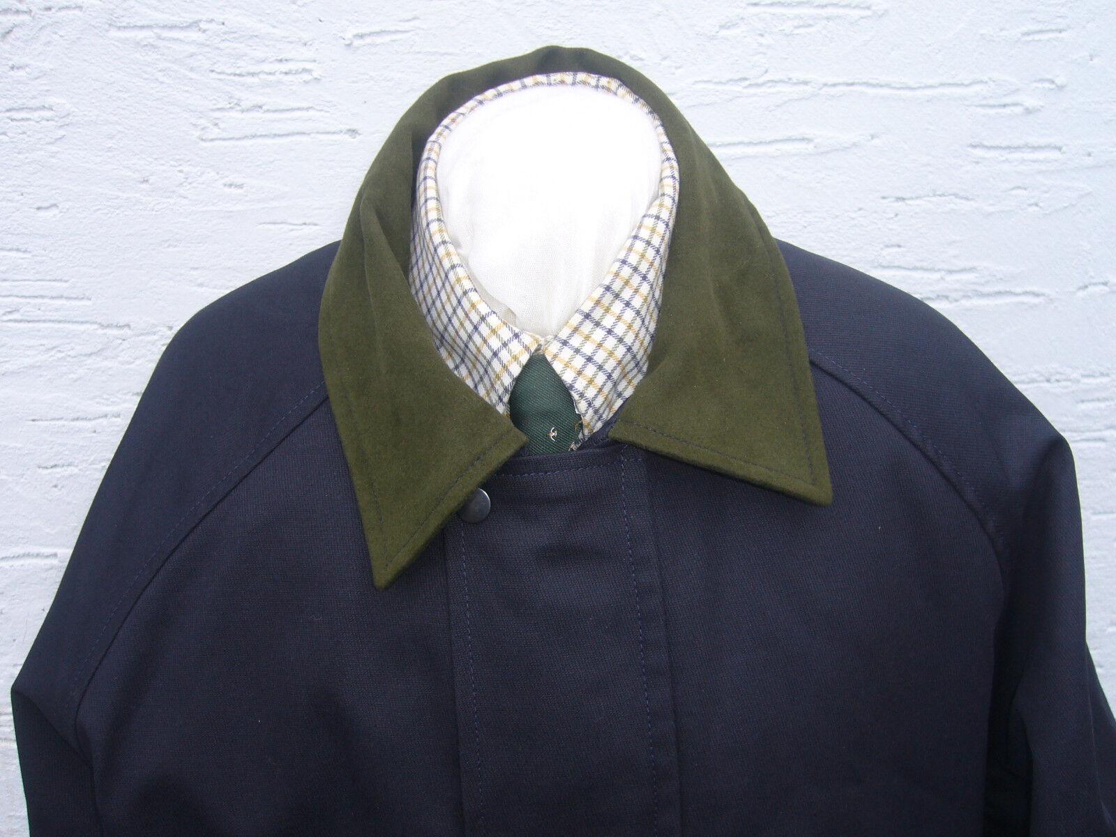 Veste imperméable poly coton taille med bleu marine marine marine tir marche countrywear new 174997