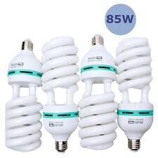 StudioPRO 85W 4 Pack CFL Fluorescent Spiral Daylight Light Bulb 110V 5500K