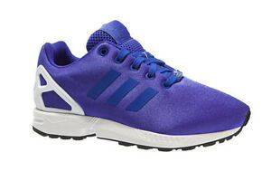the latest f9d6b 5fc21 Details about New Kids adidas ZX Flux K Trainers Purple