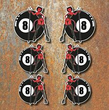 8 Ball Demon Devil Hot Rod Stickers Vintage Motorcycle Custom Car VW Van Decal