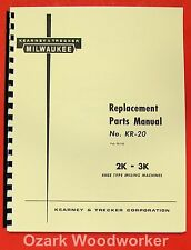 Kearney Amp Trecker Milwaukee 2k 3k Mills Part Manual 0417