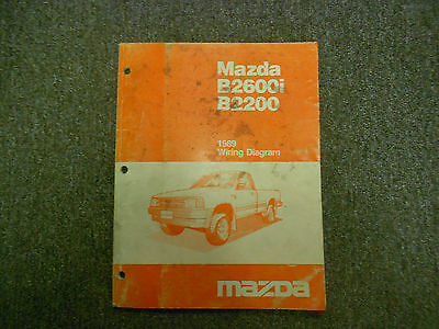 1989 mazda b2200 wiring diagram schematic 1989 mazda b2600i b2200 wiring diagram service shop manual oem  1989 mazda b2600i b2200 wiring diagram