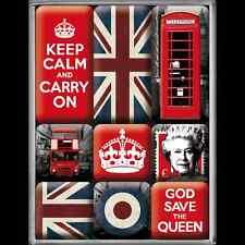 United Kingdom symbols set of 9 mini fridge magnets (na)