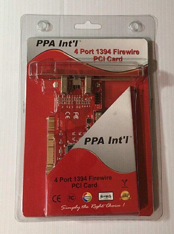 PPA Int'l 4-Port 1394 Firewire PCI Card