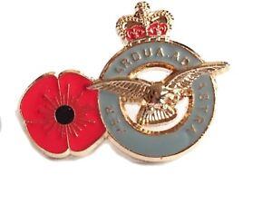 RAF Poppy Lapel Badge Royal Air Force Remembrance