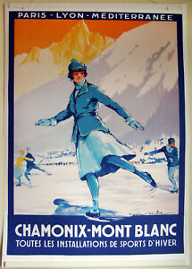 Large-Format-Facsimile-of-1922-Chamonix-Mont-Blanc-Skating-Travel-Poster-36x25