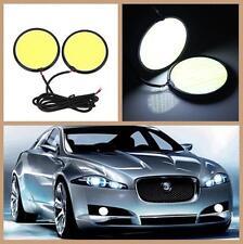 2x Car Super White Waterproof COB 12V 6.5CM LED Lights As DRL Fog Driving Light