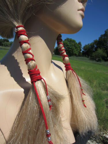 Leather Ponytail Holder Hair Wraps Rennaissance Fair Cosplay Hair Jewelry Ties