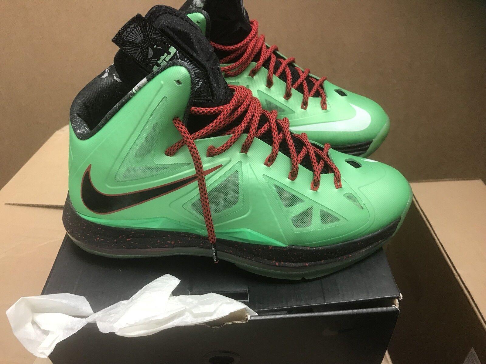 Nike Nike Nike Lebron X Cutting Jade Air Max Flywire 12 W Box 541100-303 8.5 10 b49847