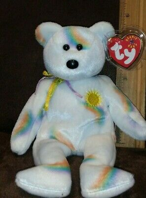 SUNNY the e-Bear TY Beanie Baby 8.5 inch - MWMTs Stuffed Animal Toy