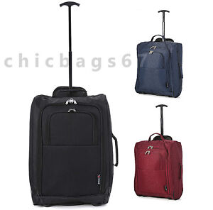 Lightweight Luggage Suitcase Wheeled Holdall Hand Trolley Travel Cabin Bag