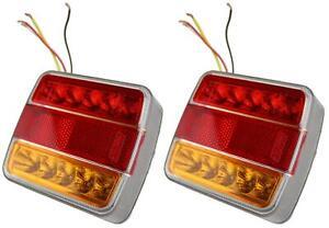 2x-LED-Trailer-Combination-Light-Lamp-12V-Square-Ifor-Williams