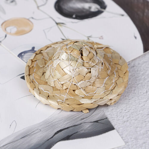 Hand Weaved 1//12 Straw Hat Mini Dollhouse Miniature Hat OrnameFB