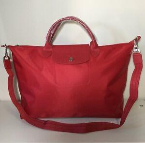 c6d5114eebc Image is loading Longchamp-Le-Pliage-Neo-Large-Red-Hobo-Handbag-
