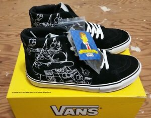 Vans X Simpsons X Todd James Size 9 SAMPLES NEW WITH BOX supreme ... 1175a08912c