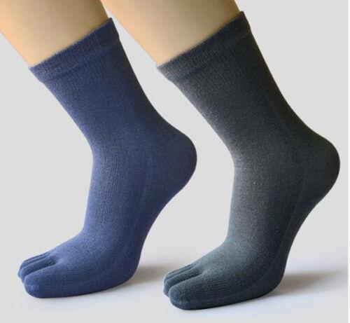 10 Pairs Men/'s 100/% Cotton five finger socks toe socks Sports Breathable size 4