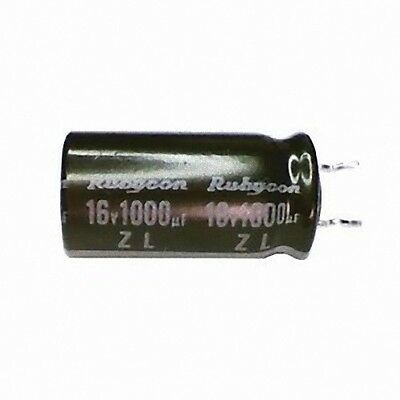 2pc Rubycon 10V 1000UF Radial Electrolytic Capacitor