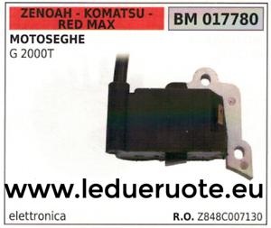 Z848C007130 BOBINA ELETTRONICA centralin MOTOSEGA ZENOAH KOMATSU rojo MAX G 2000T