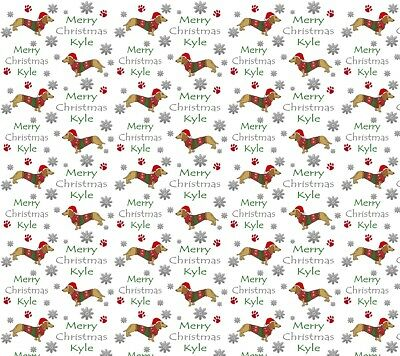 Personalised Christmas Gift Wrap Sausage Dog Dachshund Wrapping Paper Ebay