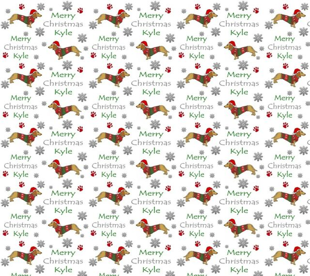 Xmas Wrapping Paper Personalised Christmas Gift Wrap Cute bear with present
