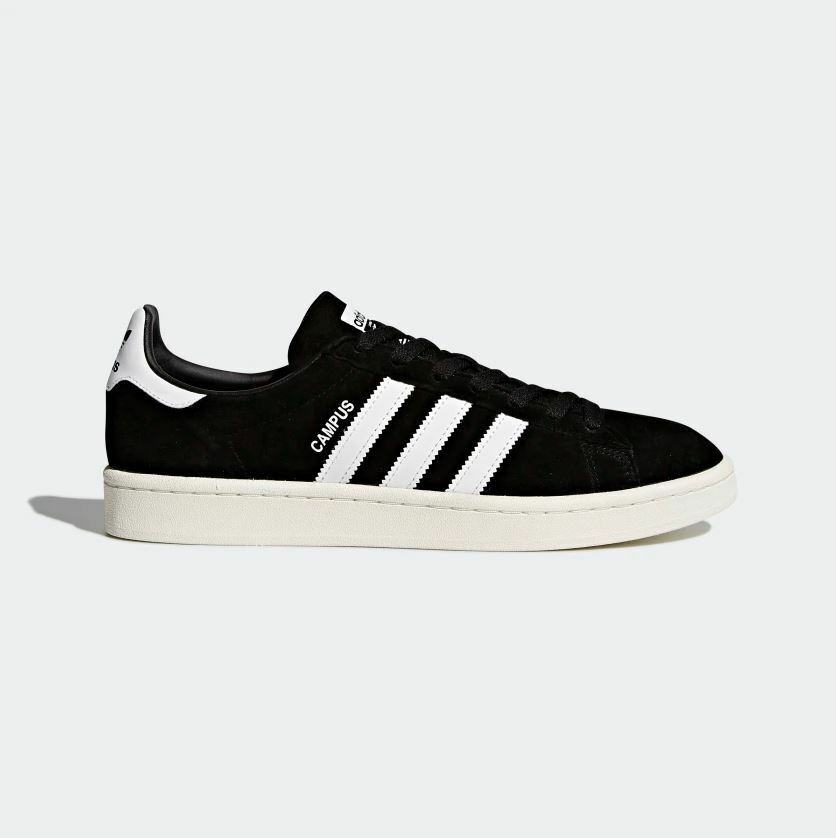 Adidas Men's - CAMPUS SHOES - OlLD SCHOOL SNEAKERS - LEATHER - BLACK