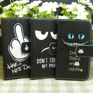 1x-Don-039-t-Touch-My-Phone-Housse-Etui-Coque-Wallet-Flip-case-Cover-pour-HTC-ASUS