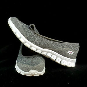 Details about SKECHERS Womens EZ Flex 2 Gray Memory Foam Slip On 22669 Stitched Size 8.5