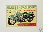 Pubblicita' Advertising Harley Davidson Hydra-Glide RIPRODUZIONE