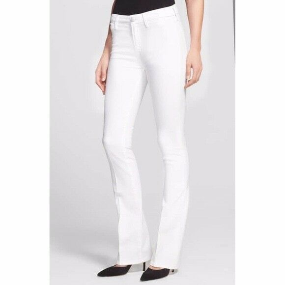 NWT Vince Taylor High-rise Bootcut Jeans in White Size 30