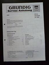 Original Service Manual Grundig CF 30 CF 30 GB CF 7200