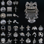 10-50-100Pcs-Tibetan-Silver-Pendants-Charms-Necklace-Bracelet-Findings-Craft-DIY thumbnail 1