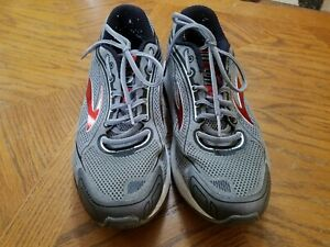 Brooks Dyad 9 Gray/Red Running Athletic