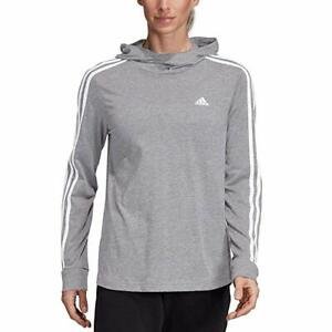 Details about New Adidas Womens Transition Lightweight Gym Hoodie,Grey Heather/White, S-M-L-XL