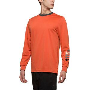 Détails sur NIKE SB Dry manches longues Tee Hommes New Orange Noir T shirt Gris Homme Top 886100 879 afficher le titre d'origine