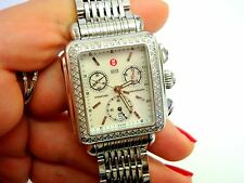 AUTHENTIC MICHELE DECO DIMOND DIAL LADIES WATCH  B36151SS BOX AND PAPERS
