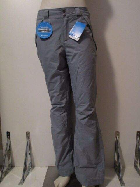 Womens XS-S-M-L-XL Columbia Polar Eclipse Insulated Waterproof Ski Pants Grey