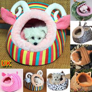 UK Cute Soft Fleece Warm Washable Cushion Mat Dog Puppy Cat Pet Basket Bed House