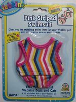 X Pink Striped Swimsuit Fits Most Webkinz Clothes Code Clothing Dress Pet