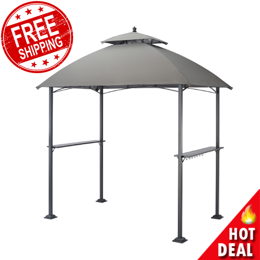 Outdoor Gazebo Canopy Bbq Grill Pro Shelter Integrated Post Speakers And Lights For Sale Online Ebay