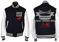 Bruce Lee Varsity Jacket Top Set Martial Arts Jeet Kune Do Little Dragon Hoodie