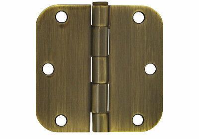 "36 Pack Polished Brass 3.5/"" x 3.5/"" 1//4 Radius Corner Interior Door Hinges"