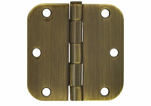 """Multi-Pack Antique Brass 3.5/"""" X5//8 Radius Door Hinge interior free shipping"""