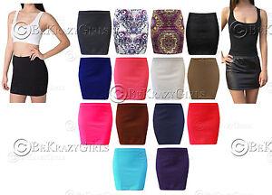 New-Style-Ladies-Mini-Women-Wetlook-PU-Short-Bodycon-Girls-Skirt-Stretch-Waist
