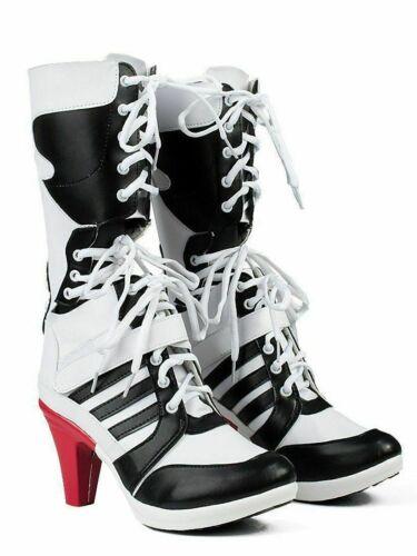 Batman DC Comics Suicide Squad Harley Quinn Cosplay Boots High Quality Costume !