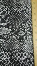 VINTAGE Snake Skin Fabric Surrah silky  12 yds wild animal jungle print
