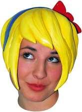 Anime Yellow Pixie Latex Wig Fancy Dress Manga Cosplay