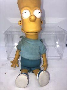 BART SIMPSON PLUSH & PLASTIC DOLL FIGURE THE SIMPSONS 1990 Dan Dee VINTAGE 11.25