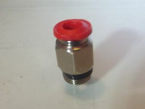 """1/4"""" Bsp x 5 mm Straight Push in stud Fitting, 15 bar rated"""